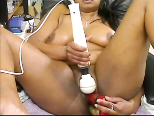 Busty indian girl from UK Janki on webcam naked playing with her boobs and masturbating.