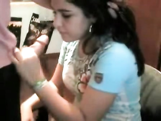 Punjabi girl from Delhi with her boyfriend on live webcam chat with public jerking him off!.