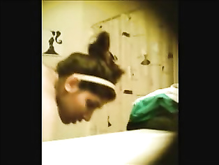 Indian chick Shriya recorded secretly taking shower on hidden cam fixed by her cousin living in her house.