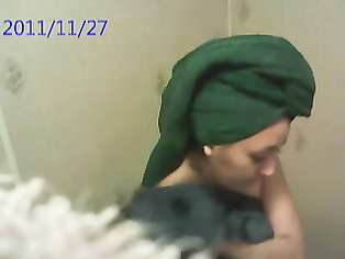 Sweet indian wife recorded taking shower in hotel room on hidden cam fixed by room service.