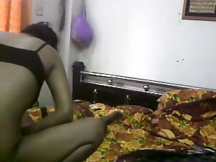 Sexy girl wearing clothes after sex with boyfriend