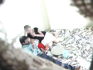 Indian lovers in bed kissing and the babe sucking the guys dick hesitantly before he gets between her legs and starts fucking.