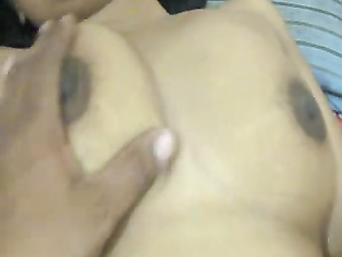 Maure bhabhi drinking beer with her hubby naked exposing her juicy big boobs and fat shaved pussy.