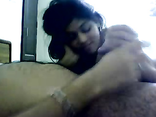Punjabi girl stripping naked showing her naked body sucking boyfriends dick before lying on her back to get missionary style.