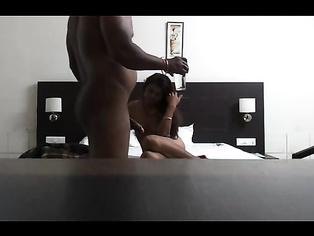 having hot passionate sex in sleazy bedroom