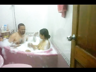 Neelam bhabhi with her man in hot shower in their newly purchased apartment in mumbai and enjoying real hardcore sex!.