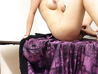 Punjabi housewife with hairy bush working hard on her pussy with help of her finger until she came!.
