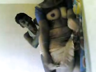 Desi village aunty Maya showing lovely tits and pussy while sucking and dicking horny husbands dick and enjoying sex in this must watch MMS.