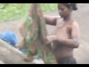 Village Girl Taking Shower - Movies.