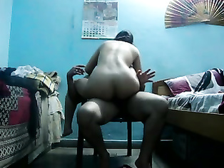 Shanti bhabhi from Hyderabad taking her white panty off giving her hubby access to fuck her hard in doggy style in bedroom recorded on cam!.