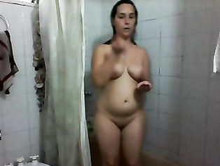 Sexy punjabi housewife from Delhi ready for shower.
