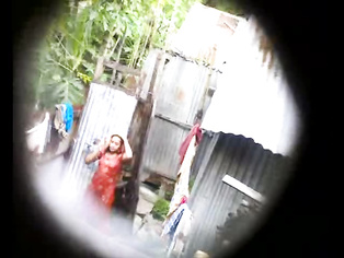 Indian Girl In Red Shower - Movies.