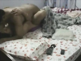 Indian wife Reena fucked in bedroom by horny hubby who fondles and squeezing her juicy boobies before cumming inside and she wipes off the cum dripping out of her pussy in this creampie MMS.