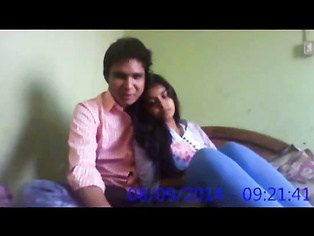 Shy Indian college girl exposing her juicy boobs to her boyfriend lifting her shirt off on camera