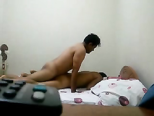 Real life married couple sex, hubby fucking his wife real hard in missionary position and then both resting after orgasm shot by friend in this MMS.