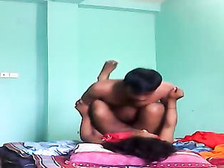Horny bihar Indian wife riding and grinding her husband Amit Kumar's cock while having sex in cowgirl position showing her clean shaven pussy and asshole in this MMS.