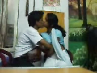 Young Lucknow college couple from famous Chowk in friends shop during lunch time sharing intimate moment unaware that their friend is filming them. video2porn2