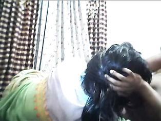 Young Indian bhabhi during her period days seducing her husband relaxing him by sucking his cock off and getting her mouth fucked instead of pussy!.