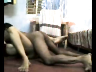 Amateur bhabhi with sindoor and mangla sutra on naked with her husband giving him blowjob in bedroom before getting fucked