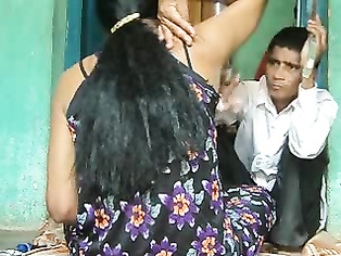 Barber Shaving Desi Aunty - Movies.