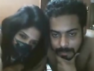 Married Indian tatto couple on live cam naked.