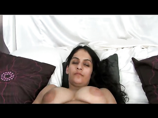 Hairy punjabi bhabhi Rani in bed with sexy stocking on exposing her hairy cunt finger deep inside to get orgasm.