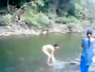 Public Full Nude River Bath.