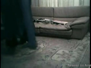 Amateur Indian couple fucking on the living room floor.
