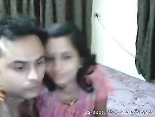 Amateur Indian couple having fun.