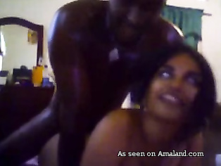 Amateur Indian girl fucked by black guy.