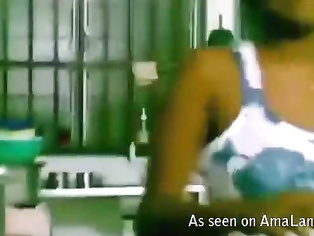 Indian amateur couple fucking in the kitchen.