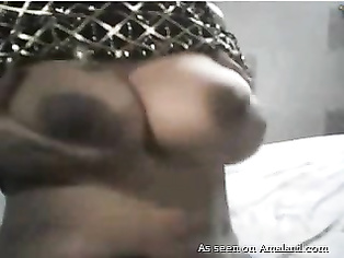 Indian lovers having fun on webcam.
