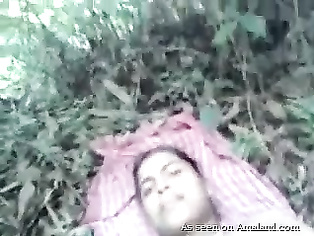 Indian slut fucked outdoors.