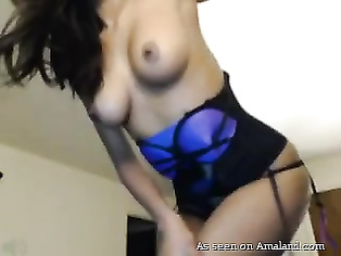 Indian webcam striptease and dance show.