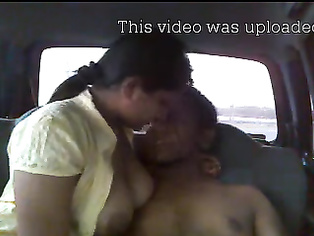 Kinky Indian couple fucking inside the car.