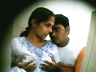 Naughty Indian couple caught on hidden camera.