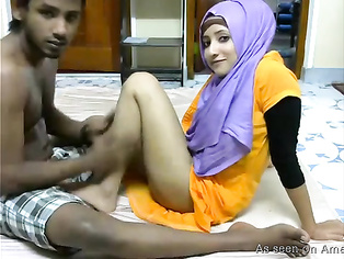 Pretty Indian amateur gets naughty with her man.