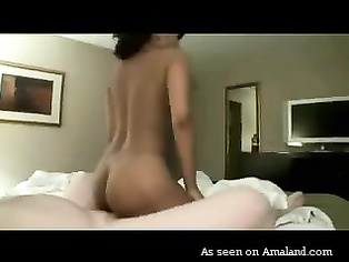 Sexy Indian chick gets fucked by fat white guy.