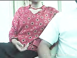 Shy Indian GF shows her big juggs on webcam.