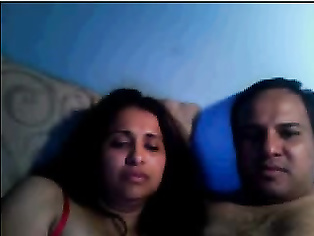 Indian Couple On Webcam Show.