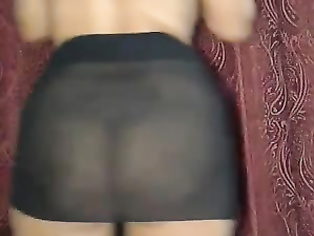 The red underwear makes it and how she plays so delicately