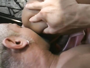 The guy should have shove dthe cock in her mouth for finish