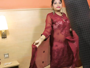 Rupali gujarati amateur gives a seductive strip tease giving her guy a peak under shalwar suit with her bountiful breast gyrating to the music