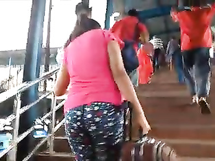Indian huge butt in tights
