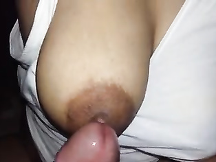 Desi hot woman enjoying boobs rubbing hubby friend