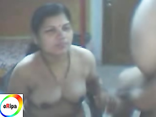 Mature bihari couple enjoying sex on cam.