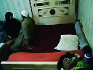 Hafiz mamu fucking his wife in bedroom caught on hidden cam fixed by their servant.