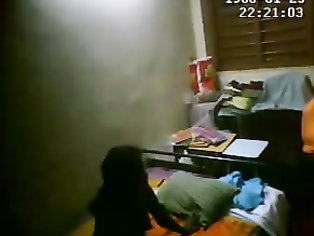 Hidden cam fixed in a guest room captured indian couple fucking in their privacy.