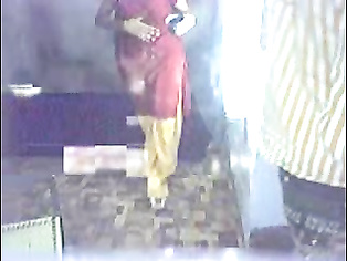 Rajasthani whore girl from Pilibanga salwar pulled down and fucked doggy style by horny guy caught on hidden cam in this MMS.