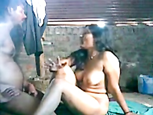 Horny desi couple from Kolkata guy kissing and fondling big tits of best friends wife and sucking them nicely during sex foreplay.